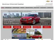 Beckman Chevrolet Cadillac Website