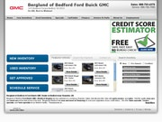 Berglund of Bedford Ford Buick GMC Website