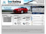 Berkeley Honda Website