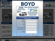 Boyd Buick GMC Honda Ford Website
