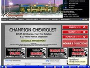 Champion Cadillac Website