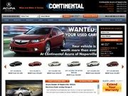 Continental Acura Website