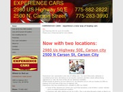 Experience Cars Website