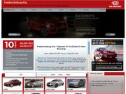 Fredericksburg Kia Website