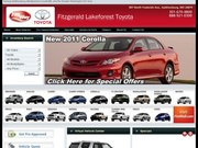 Fitzgerald's Lakeforest Toyota Website