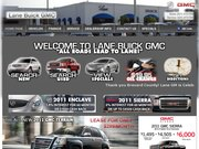 Lane Buick GMC Website