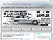 New Country Audi of Greenwich Website