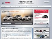 New Country Buick GMC Website