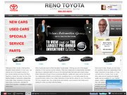 Reno Toyota Website