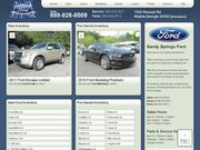 Frank Jackson's Sandy Springs Ford Website