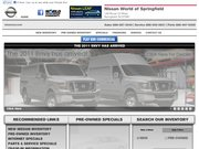 Nissan World of Springfield Website