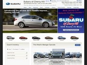 Cherry Hill Subaru Website