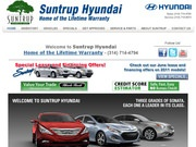 Suntrup Hyundai Website