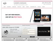 Vaden Nissan Website