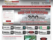 Toyota of Vancouver Usa Website